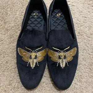 H\u0026M Shoes   Hm Velour Loafers   Poshmark